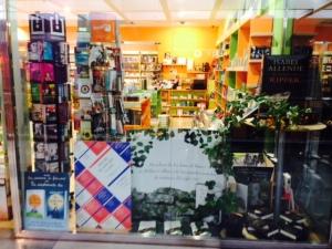 Llibreria Idees - Illa Carlemany - Pancarta llibre l'Home de mirada clara © 2014 Ludmilla Lacueva Canut
