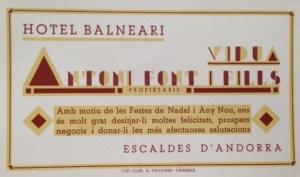 1. Balneari viuda Font