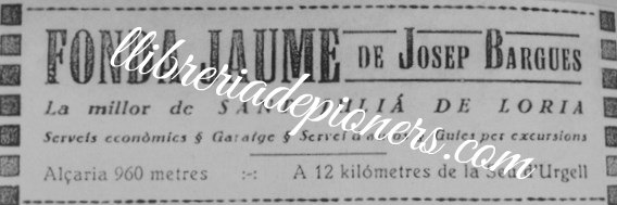 Anunci fonda Jaume-llibreriadepioners
